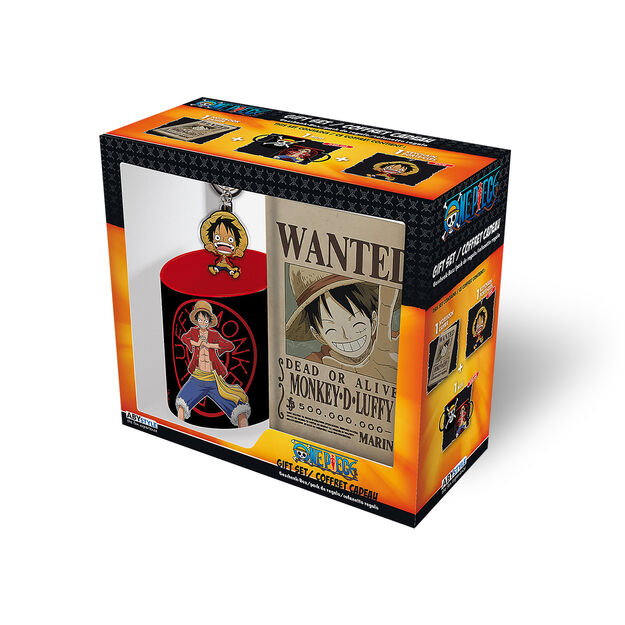 One Piece - Monkey D. Luffy 3 Pc. Gift Set (Includes Mug, Notebook, and Keychain)