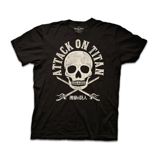 Black Skull Attack on Titan T-SHIRT