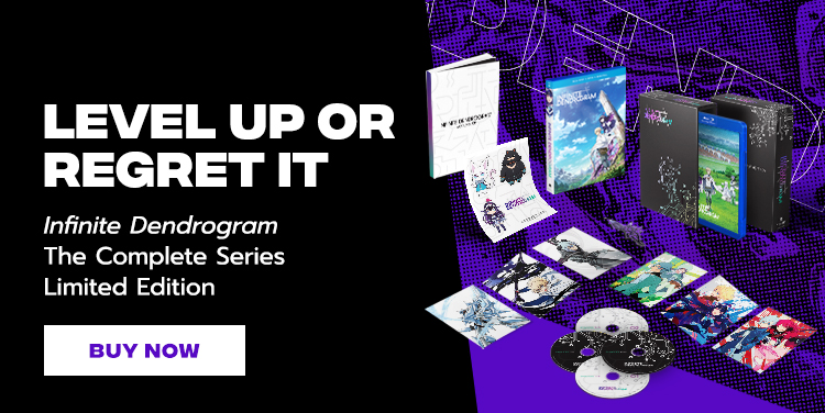 Level Up Or Regret It. Infinite Dendrogram The Complete Series Limited Edition.