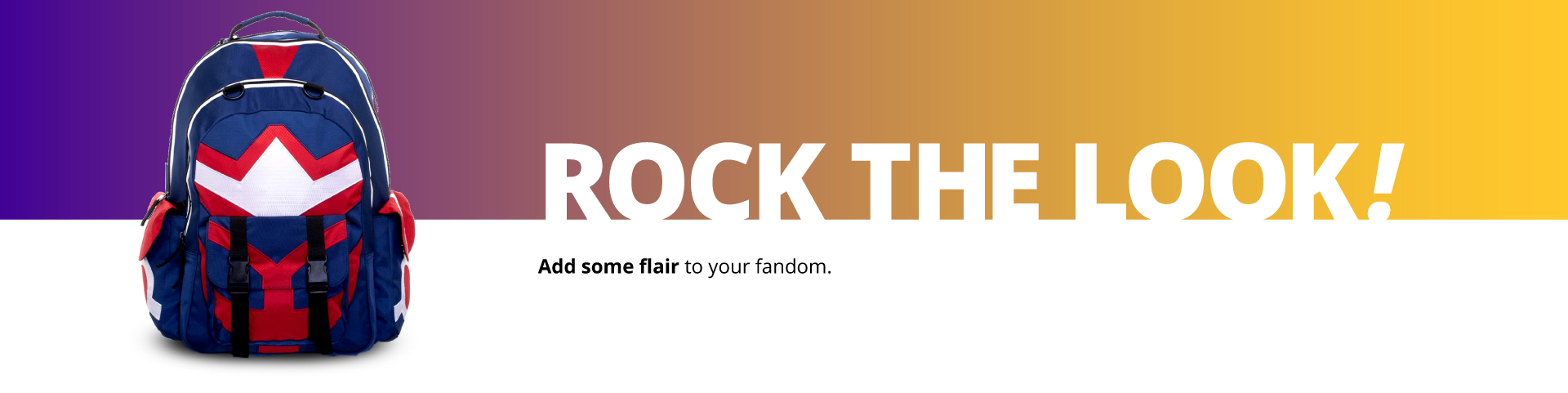 Rock The Look! Add some flair to your fandom.