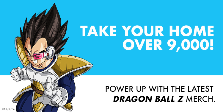 Take Your Home Over 9,000! Power Up With The Latest Dragon Ball Z Merch.